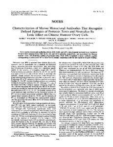NOTES Characterization of Murine Monoclonal Antibodies That ...