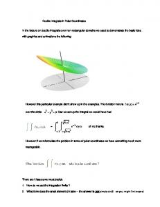 Notes - Double Integrals in Polar Coordinates - Calculus Animations