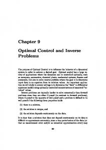 notes on inverse problems and optimal control