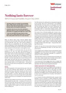 Nothing lasts forever - Westpac