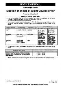Notice of Poll - Isle of Wight Council