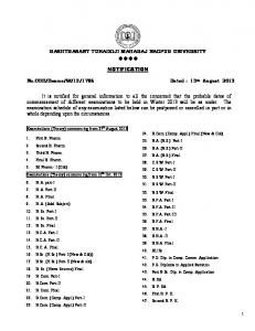 Notification for Commencement of Examination ... - Nagpur University