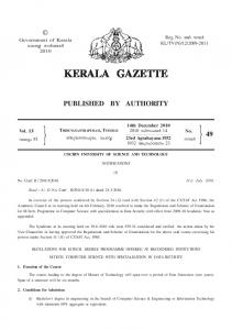Notifications of Cochin University of Science and ... - Kerala Gazette