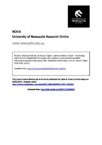 NOVA University of Newcastle Research Online nova