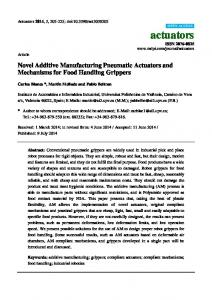 Novel Additive Manufacturing Pneumatic Actuators and ... - MDPI