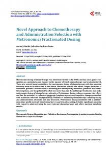Novel Approach to Chemotherapy and
