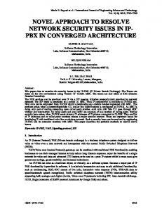 novel approach to resolve network security issues in ...