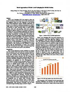 Novel Approaches of Wafer Level Packaging for MEMS ... - IEEE Xplore