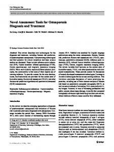 Novel Assessment Tools for Osteoporosis Diagnosis ...