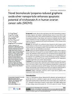 Novel biomolecule lycopene-reduced graphene oxide ...