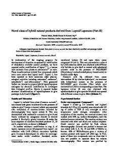 Novel class of hybrid natural products derived from Lupeol ... - NOPR