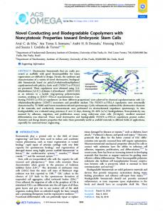 Novel Conducting and Biodegradable Copolymers ... - ACS Publications
