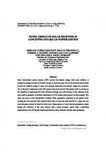 novel design of solar receiver in concentrated solar power system