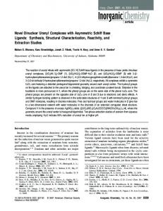 Novel Dinuclear Uranyl Complexes with ... - ACS Publications