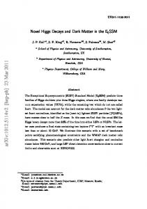 Novel Higgs Decays and Dark Matter in the E6SSM