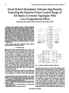 Novel Hybrid Modulation Schemes Significantly ... - IEEE Xplore