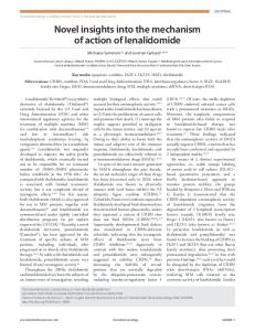 Novel insights into the mechanism of action of ... - Semantic Scholar