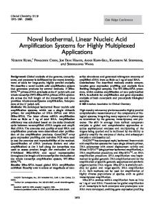 Novel Isothermal, Linear Nucleic Acid ... - Clinical Chemistry