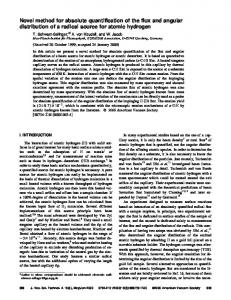 Novel method for absolute quantification of the flux and angular ...