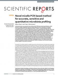 Novel micelle PCR-based method for accurate, sensitive and