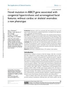 Novel mutation in ABBC9 gene associated with ...