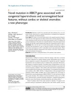 Novel mutation in ABBC9 gene associated with