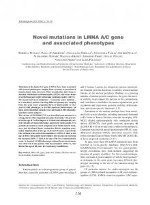 Novel mutations in LMNA A/C gene and ... - Semantic Scholar