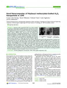 Novel Nanocomposites of Poly(lauryl methacrylate) - ACS Publications