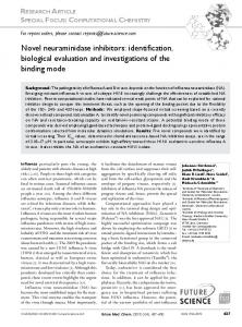 Novel neuraminidase inhibitors: identification ... - Future Science