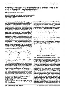 Novel Pd(II)-catalysed N,O-bicyclisation as an efficient route to the 6 ...