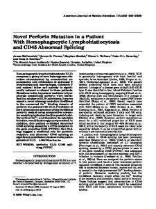 Novel perforin mutation in a patient with ... - Wiley Online Library