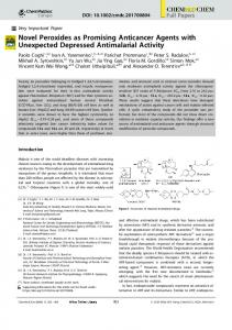 Novel Peroxides as Promising Anticancer Agents with ...