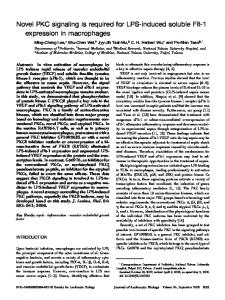 Novel PKC signaling is required for LPS-induced soluble ... - CiteSeerX