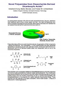 Novel Polyamides from Disaccharide-Derived Dicarboxylic Acids ...