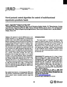 Novel postural control algorithm for control of multifunctional