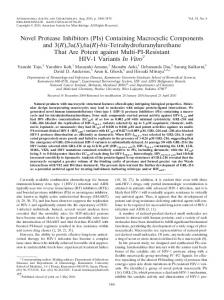 Novel Protease Inhibitors (PIs) - Antimicrobial Agents and ...