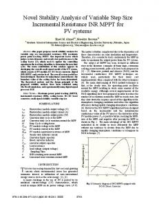 Novel Stability Analysis of Variable Step Size