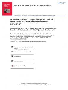 Novel transparent collagen film patch derived from