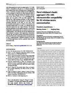 Novel wideband chaotic approach LNA with ... - Wiley Online Library