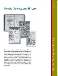 Novels, Society and History - NCERT BOOKS and CBSE BOOKS