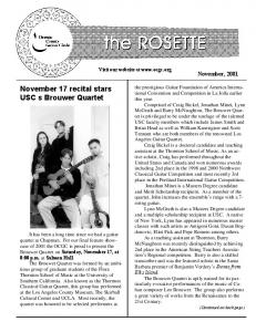 November 2001 - Orange County Guitar Circle