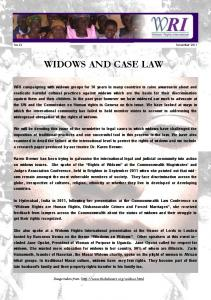 November 2011 - Widows' Rights International