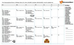 November 2013 Calender - First Congregational Church, St. Johns, MI