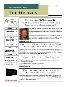 November Horizon - APICS - Houston Chapter