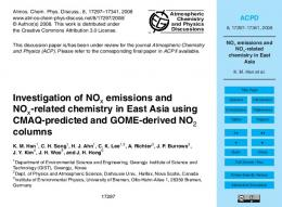 NOx emissions and NOx-related chemistry in East Asia