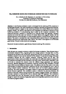 NOX EMISSIONS MODELING IN BIOMASS COMBUSTION GRATE