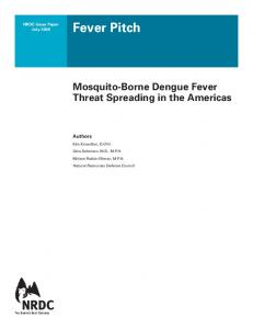 NRDC: Fever Pitch - Mosquito-Born Dengue Fever Threat Spreading ...