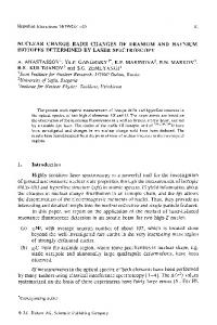 Nuclear charge radii changes of uranium and hafnium ... - Springer Link