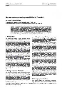 Nuclear data processing capabilities in OpenMC - EPJ Web of ...