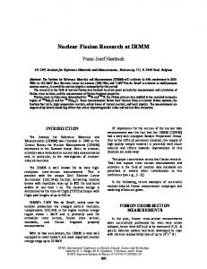 Nuclear Fission Research at IRMM